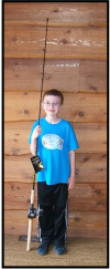 kids musky pike rod