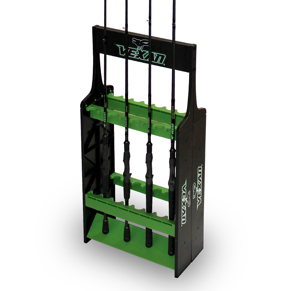 Fishing rod rack vexan super 16 tackle industries for Fishing rod rack